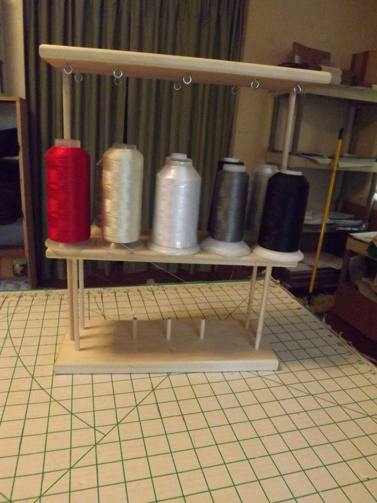 Big Spool 5000m Embroidery Machine Thread Stand Holds 10 Spools Handmade Machine Embroidery