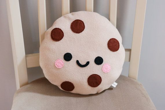 Cute Kawaii Cookie 3 Food Pillows Cute Cushions Funny Pillows