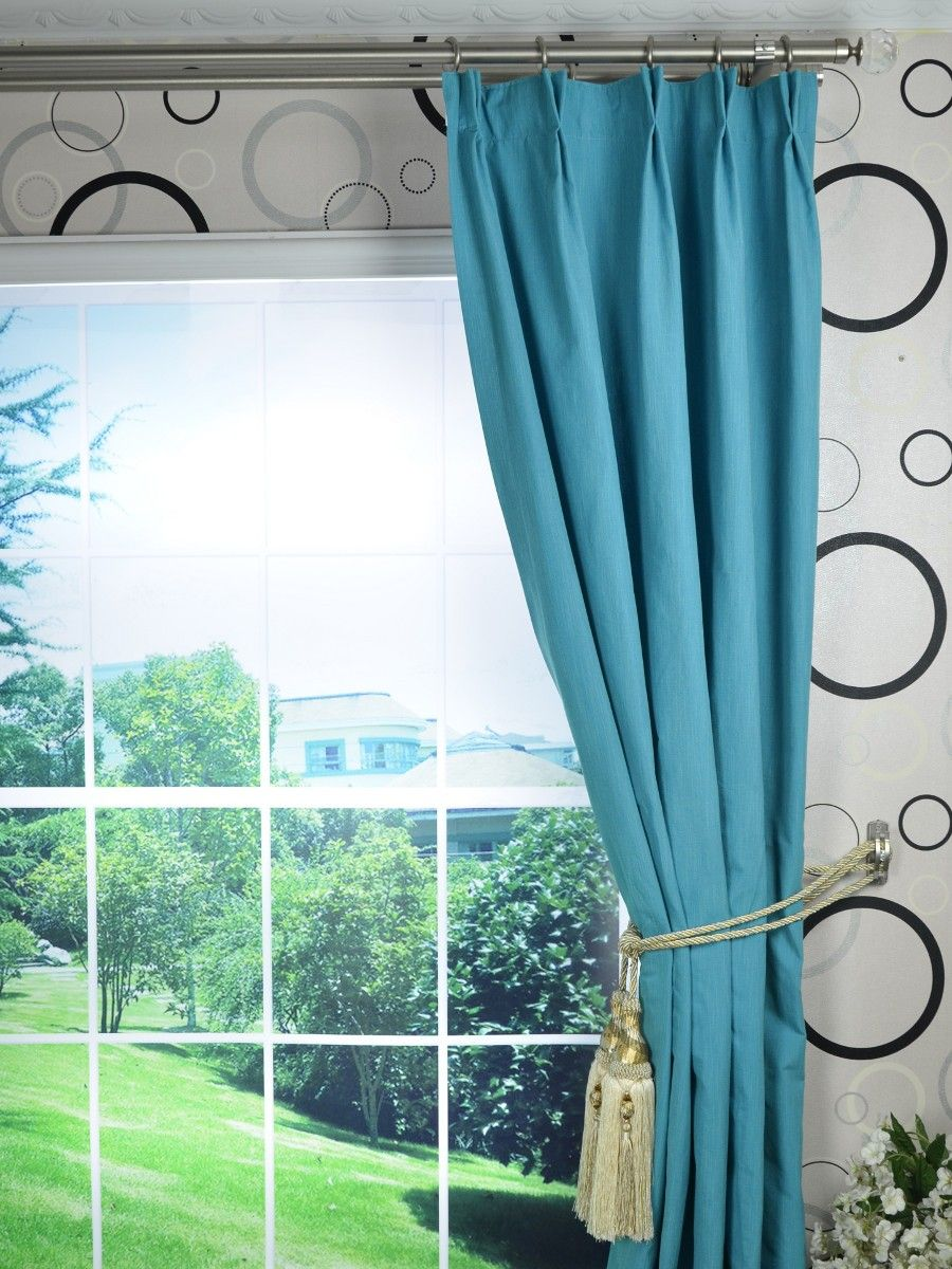 Solid Blackout Double Pinch Pleat Extra Long Curtains 108 120