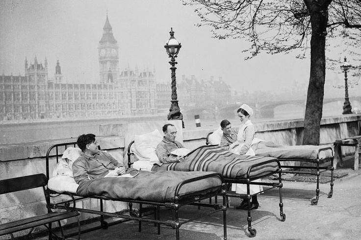 St Thomas' Hospital in 1936 [London / UK]