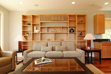 Disguising The Ductless   Great Room   Contemporary   Living Room    Portland   Hood River ReDesign