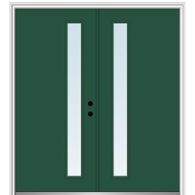 Mmi Door 64 In X 80 In Viola Left Hand Inswing 1 Lite Clear Low E Painted Fiberglass Smooth Prehung Front Door Z0348504l The Home Depot Mmi Door Fiberglass Front Door Front Door