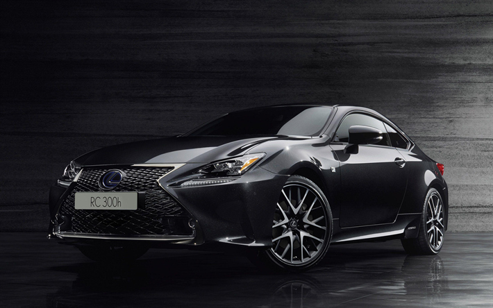 Download Wallpapers Lexus Rc300h F Sport Black Edition 2018 Cars Supercars Lexus Rc300h Japanese Cars Rc300h Lexus Besthqwallpapers Com New Lexus Lexus Super Cars