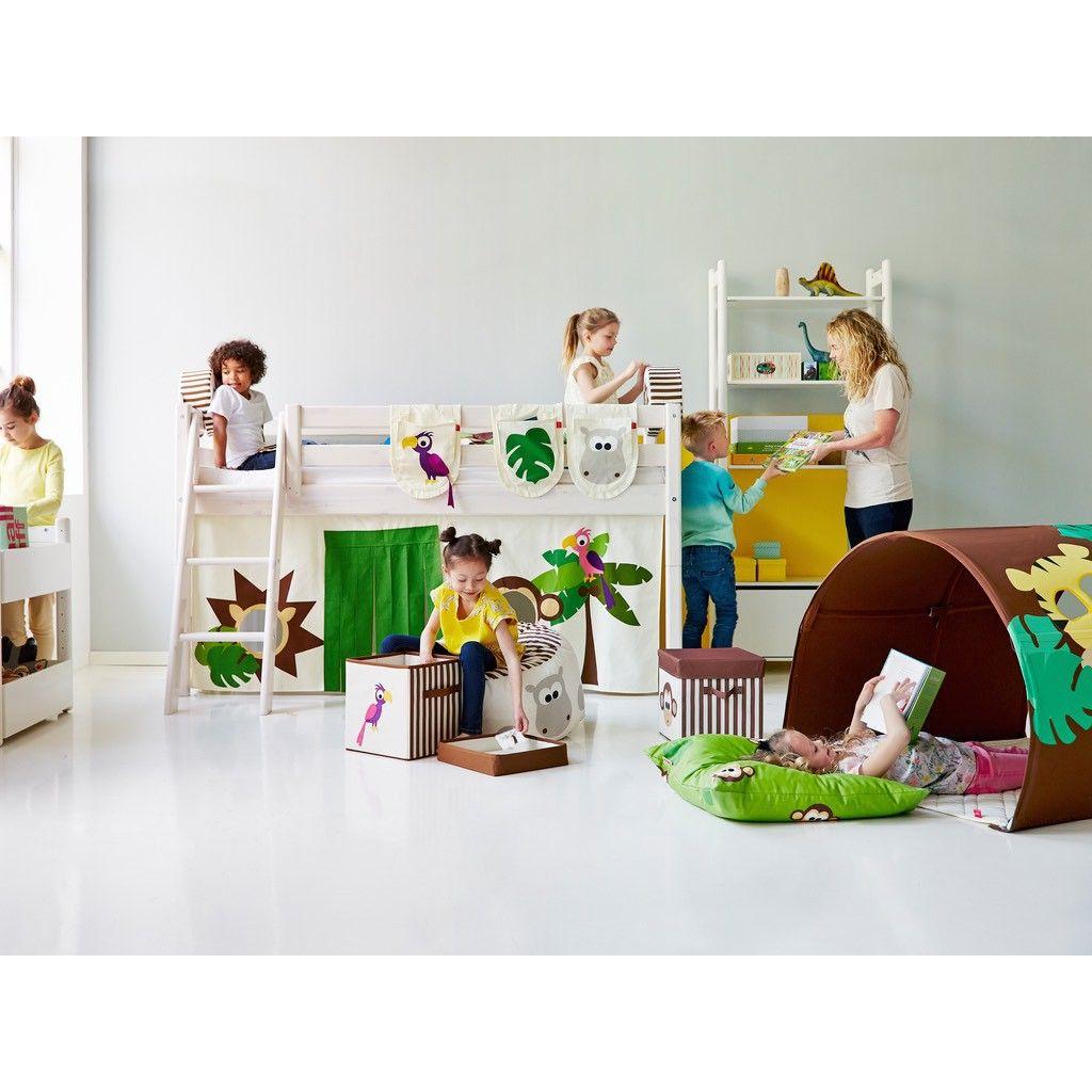 Hochbett Flexa weiß Dschungel Kinderbett dschungel
