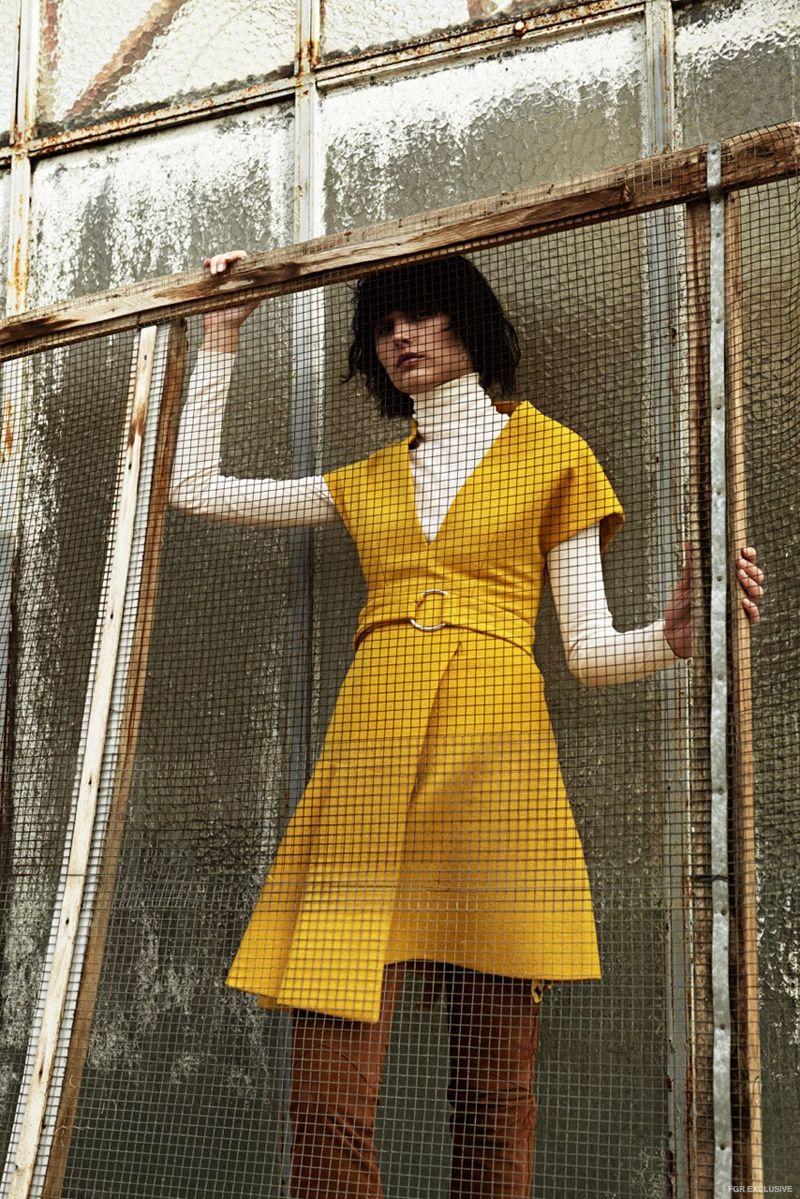 Dress Max Mara, Turtleneck Sweater Hermes, Trousers Just Cavalli