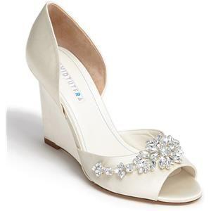 David Tutera Winter Wedge Sandal Online Only Nordstrom Bridal Shoes Wedges Wedge Wedding Shoes Bridal Shoes