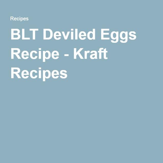BLT Deviled Eggs Recipe - Kraft Recipes