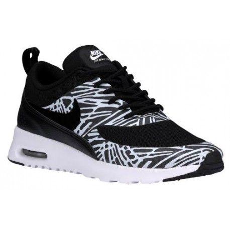 nike air max thea le scarpe da corsa nero / bianco / nero