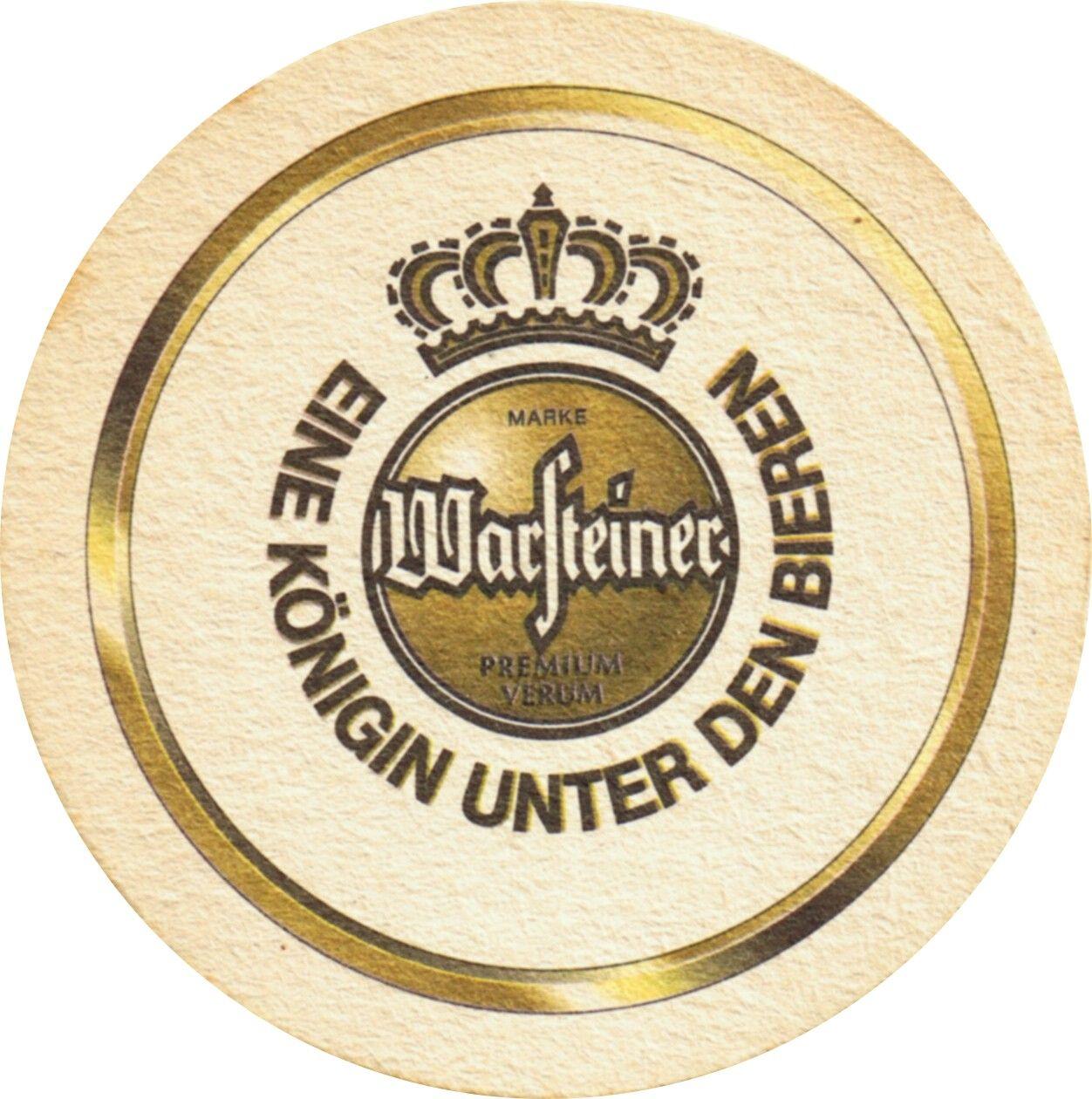 Warsteiner Beer Face Cerveza Latas Posavasos