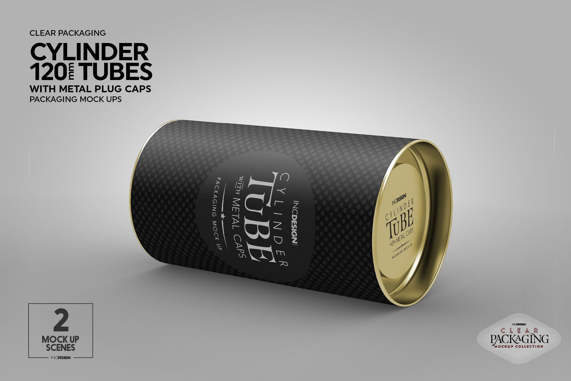 Download 120mm Cylinder Tube Packaging Mockup