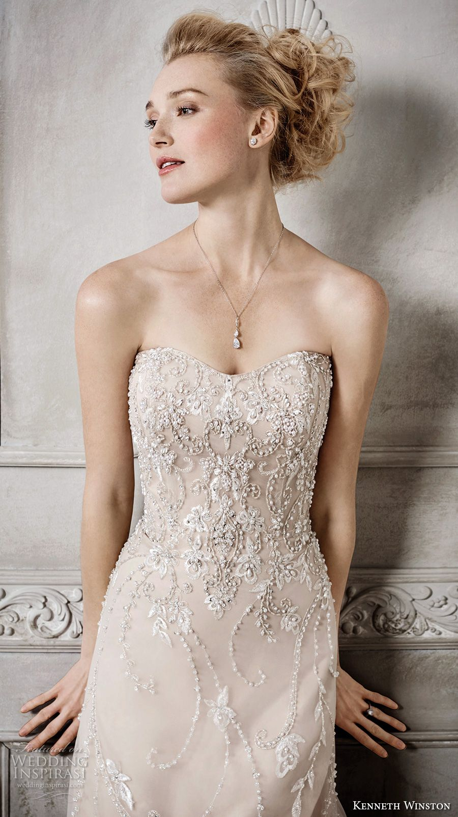 Champagne colored wedding dress  Kenneth Winston Fall  Wedding Dresses  Champagne colour Chapel