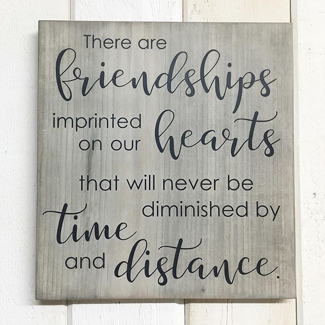 Such A Beautiful Friendship Quote Painted Wooden Sign