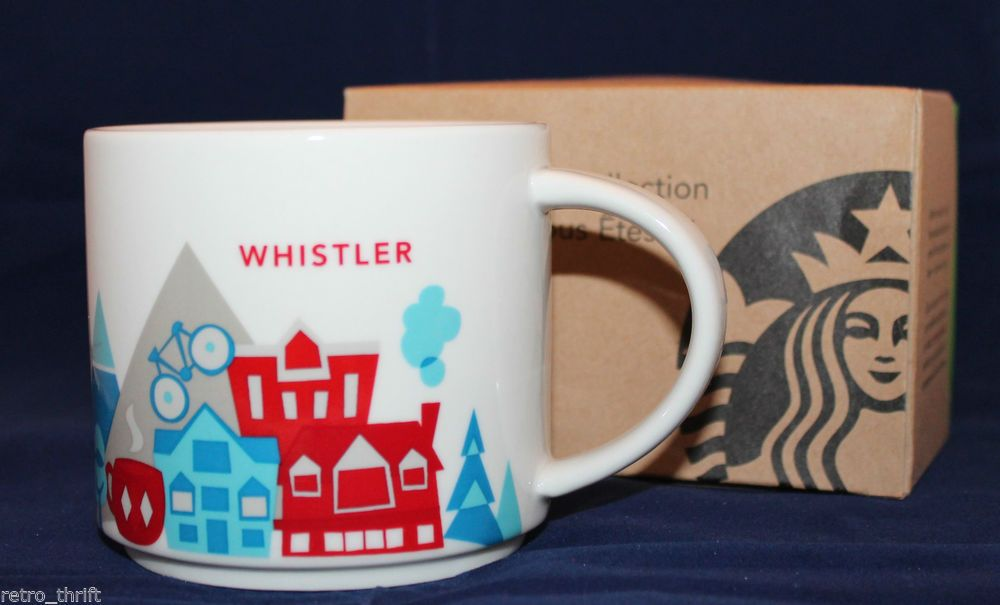 515b26d6dc9 Starbucks Coffee You Are Here Collection Whistler Canada 14 oz Mug Cup NIB