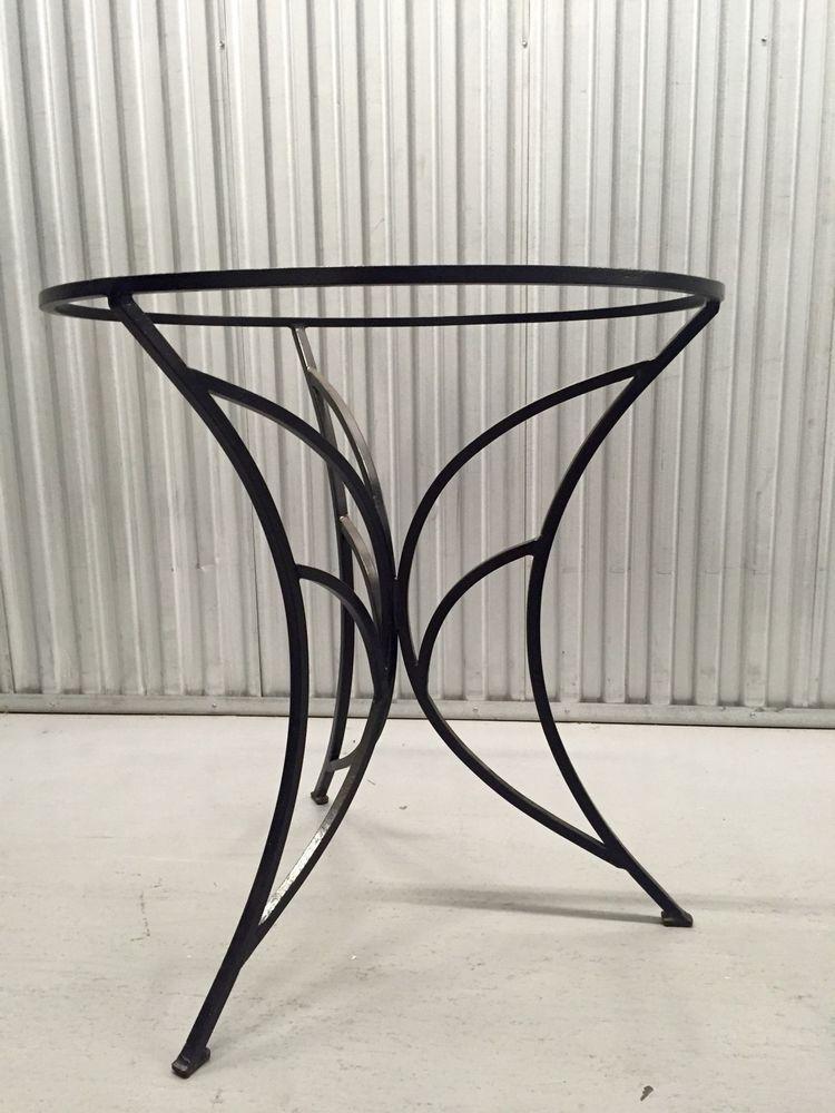 Mid Century Modern Wrought Iron Table Base Salterini Ebay