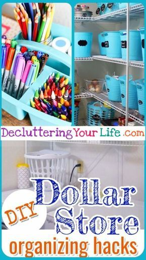 Awesome Dollar Store Dollar Tree Organization Hacks For