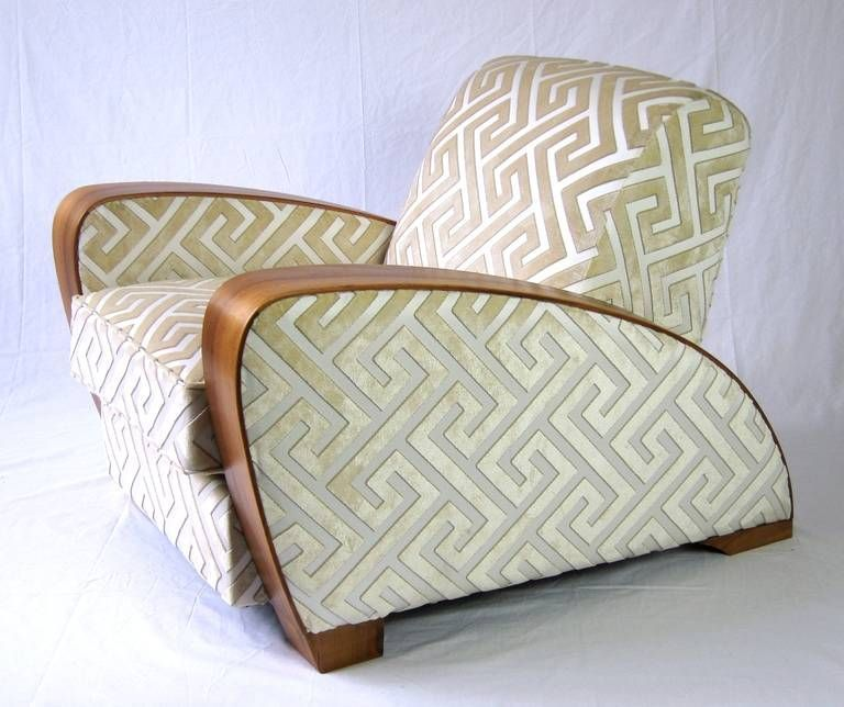 Stupendous Pair Of Art Deco Lounge Chairs 1920S Andrew Martin Silk Ocoug Best Dining Table And Chair Ideas Images Ocougorg