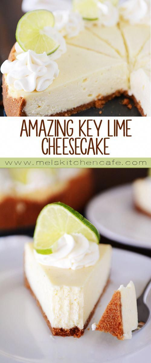 Key Lime Cheesecake {No-Cracking!} | Mel's Kitchen Cafe