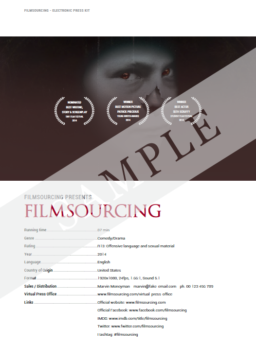Epk Electronic Press Kit Templates And Samples  Filmmaking