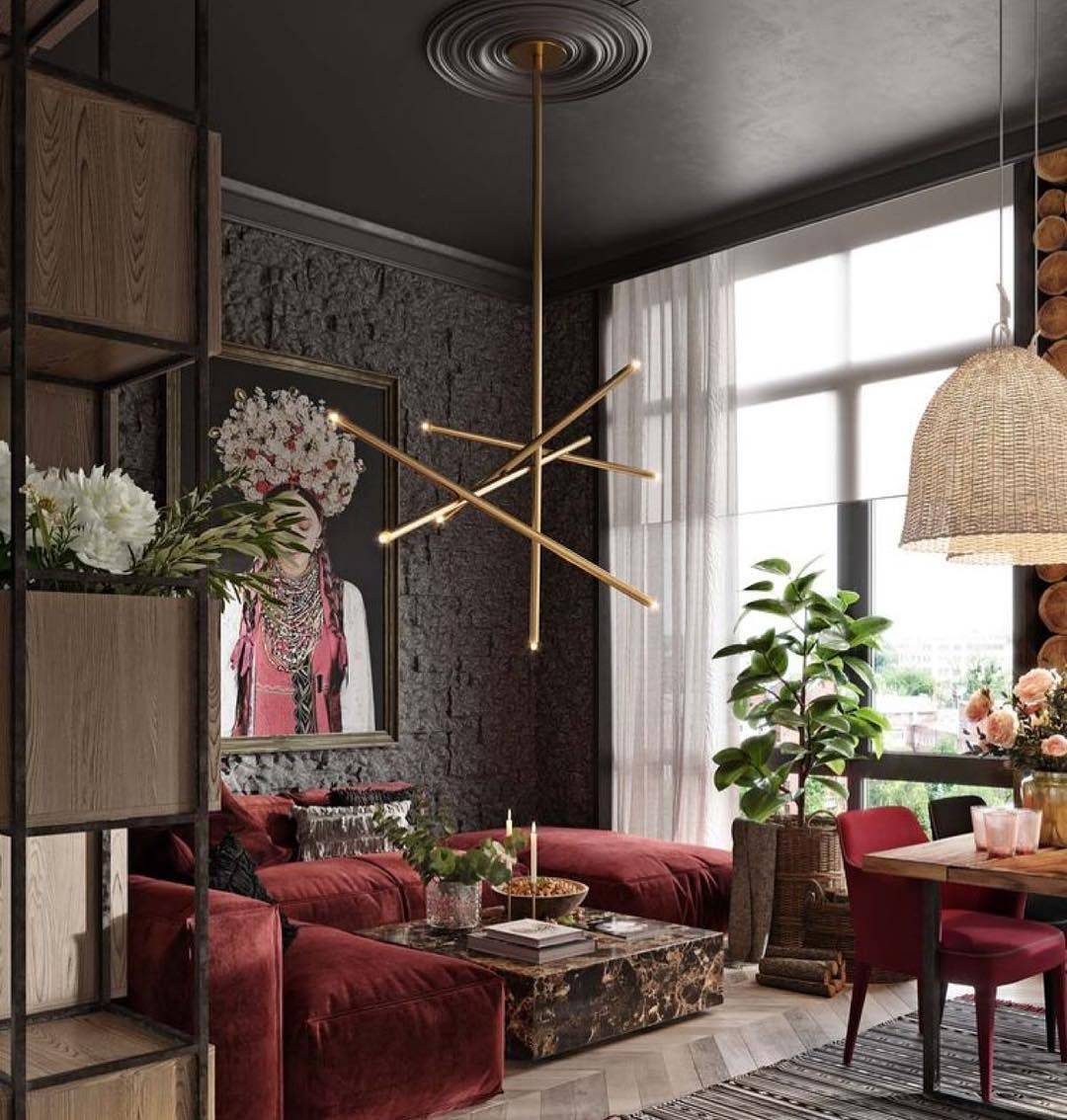 Pin By Shahad Haki On ديكورات بيت Living Room Red Red Apartment Living Decor