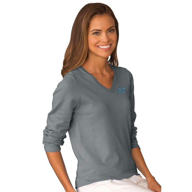 2f310c8e1 Get your Texas Tech Red Raiders Hoodies now. North Carolina Tar Heels  Women s Clubhouse V-Neck Sweater - Gray