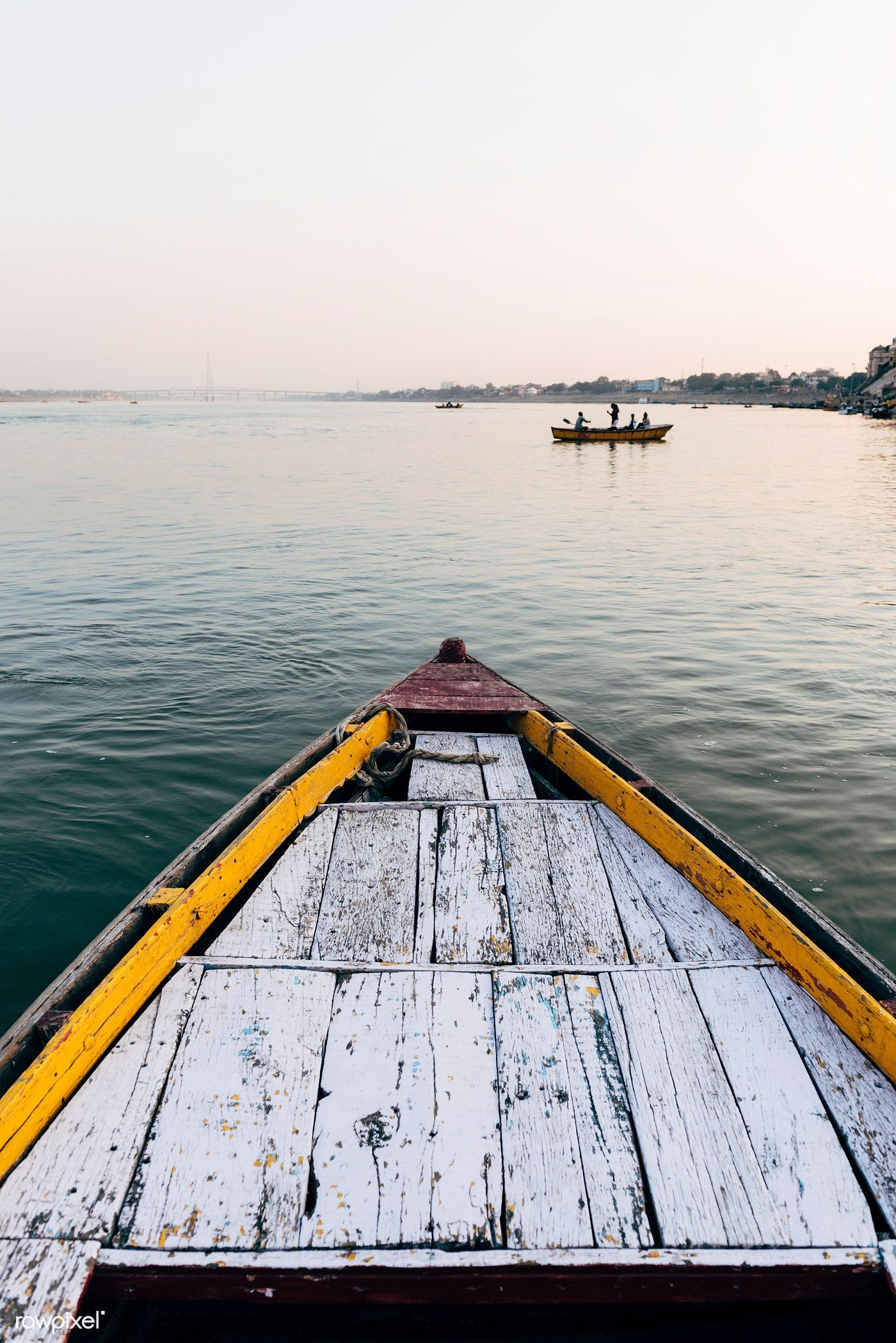 wooden boat sailing on