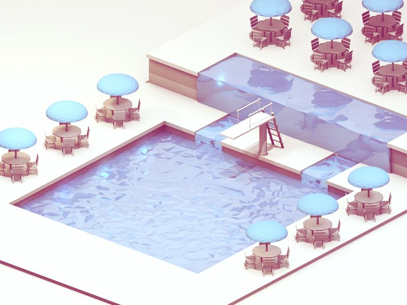 Swimming Pool | Design | 3D | Low Poly | Swimming pools, Swimming ...
