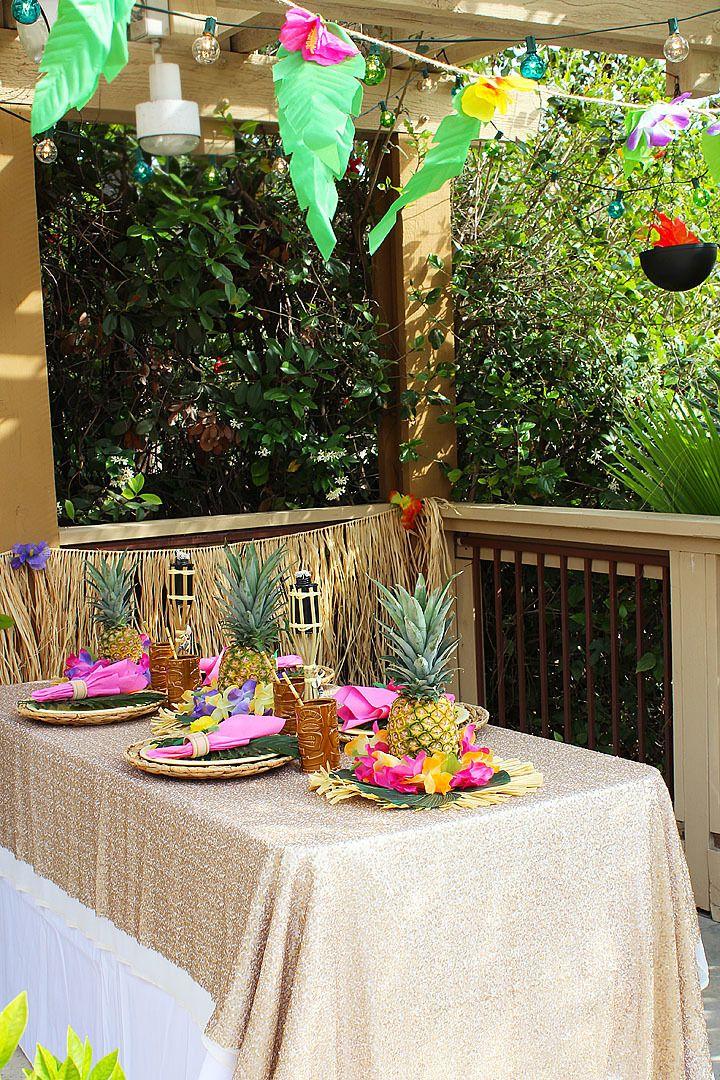 Throw a Tropical Luau | Luau theme party, Hawaiian luau ...
