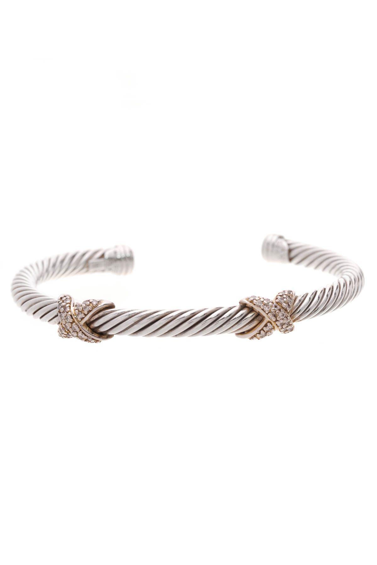 Diamond 5mm Double X Cable Bracelet