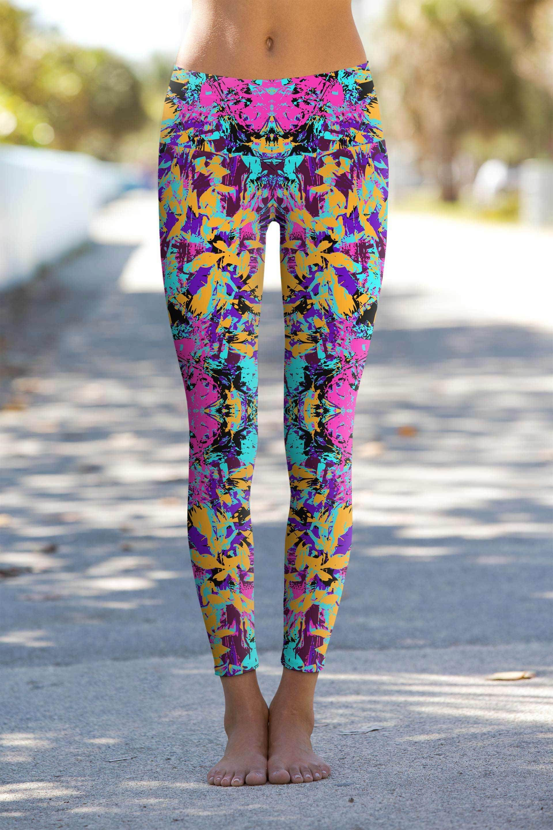 7eb89effb08 These eco-friendly printed performance high waisted leggings are ...