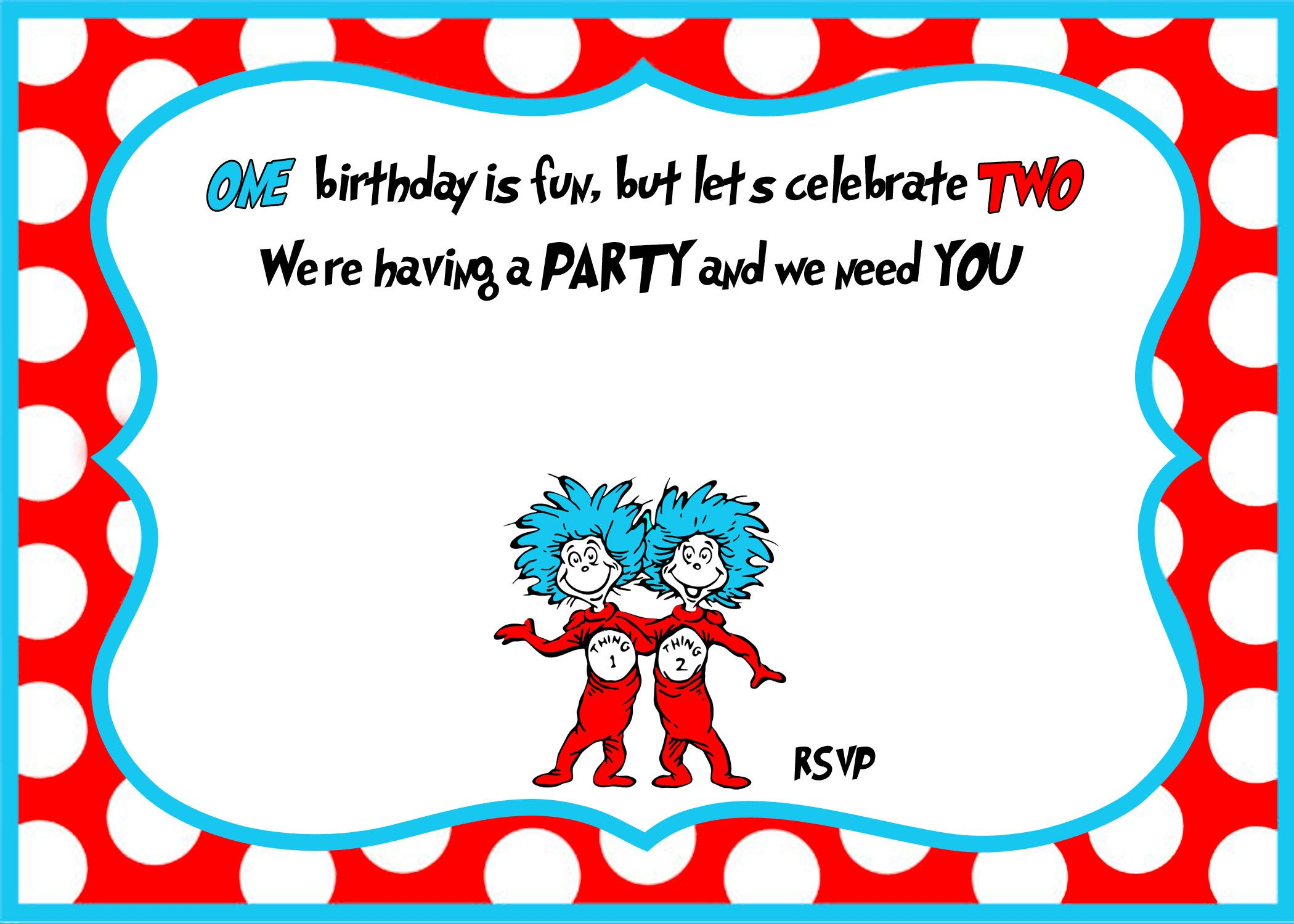 awesome free printable dr seuss birthday invitations