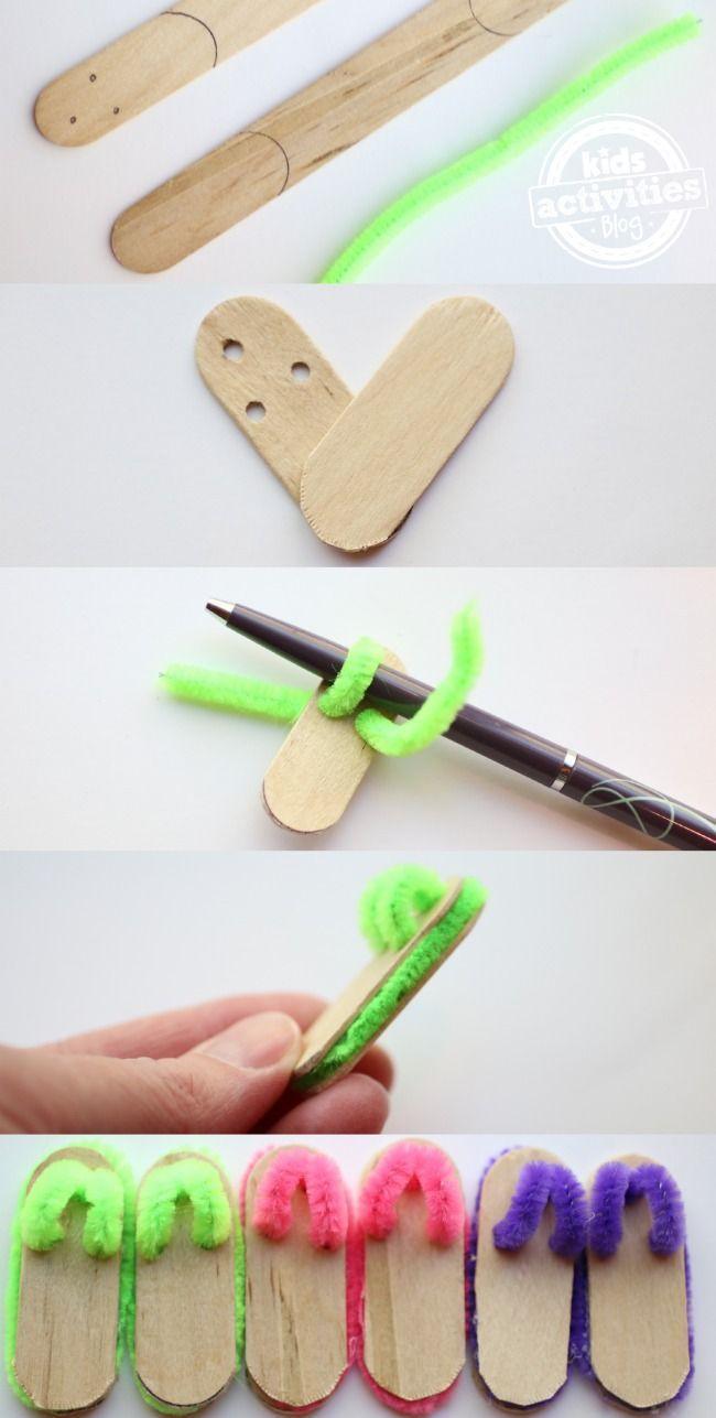 Craft Stick Flip Flops zu Ehren von Dollar Tree Flip Flop Frenzy! #dollartreecrafts Craft Stick Flip Flops zu Ehren von Dollar Tree Flip Flop Frenzy! - - #Craft #Dollar #Ehren #Flip #Flop #Flops #Frenzy #Stick #Tree #von