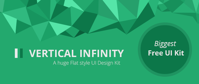 Vertical Infinity ? A Mega Flat Style UI Kit PSD for Free Download ? Freebie No: 92