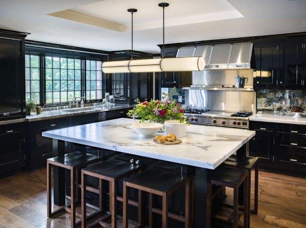 Top 50 Best Black Kitchen Cabinet Ideas Dark Cabinetry Designs Black Kitchen Cabinets Kitchen Design Color Kitchen Design