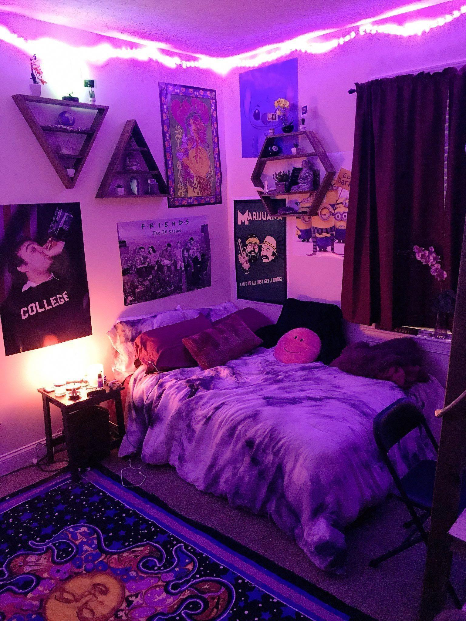 vaporwave room #vaporwave Hipster college apartment ...