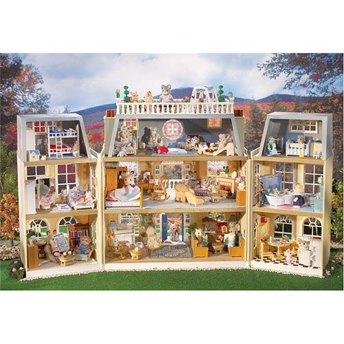 $219.99 Calico Critter Cloverleaf Manor the ultimate super-deluxe ...