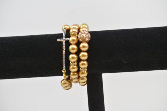 Stacking Bracelets In Gold