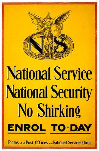 1917 National Service British World War I Poster 16 Ww1 Propaganda Posters World War I Military Poster