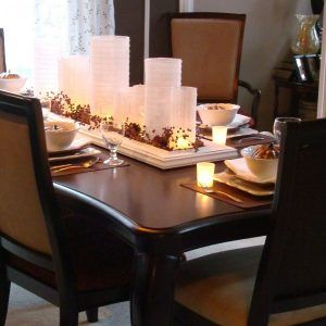 Decorating Dining Room Table With Candles Beautiful Dining Rooms
