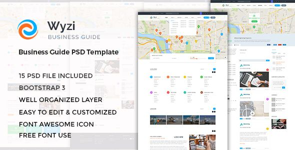 Wyzi business directory with social media look psd template buy wyzi business directory with social media look psd template by wztechno on themeforest wordpress version is available here wyzi is a modern design of wajeb Image collections