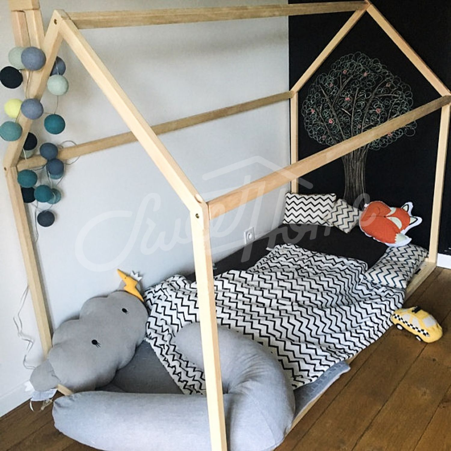 Toddler bed, House bed Tent bed Children bed Wooden house Wood house ...