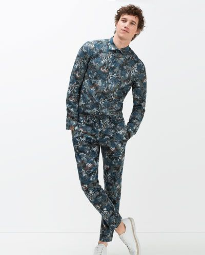 3b49da59 Image 4 of FLORAL PRINT TROUSERS from Zara | Menswear | Printed ...