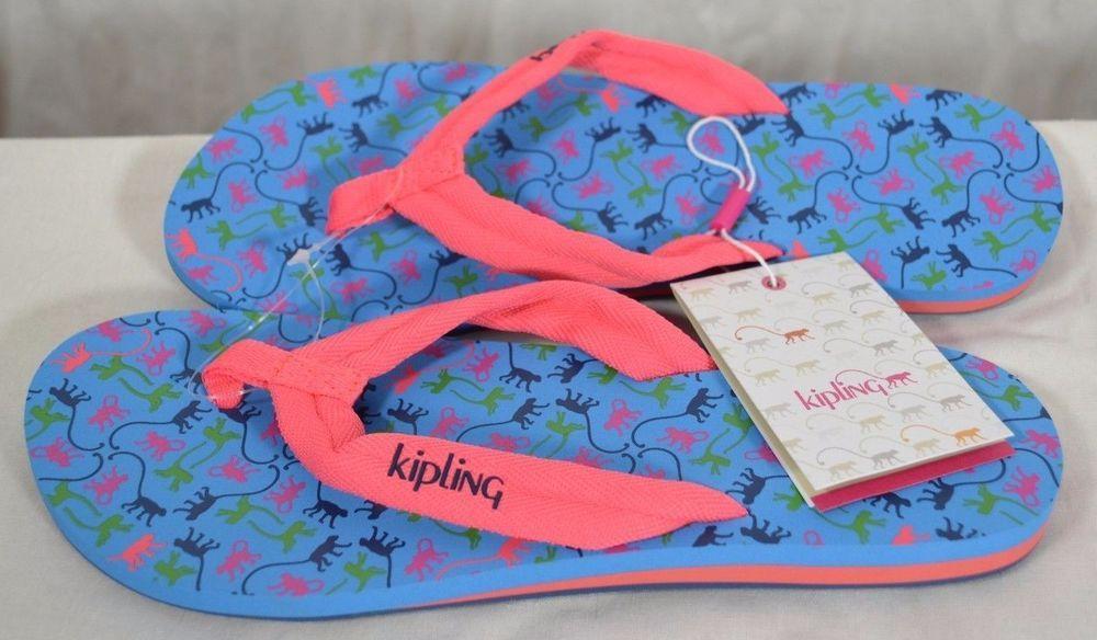 2eee6f2098cae Kipling Flip Flops/Sandals - Monkey Mania Sky Sz-M(7.5-8.5) Blue,Pink,Green  NWT #Kipling #FlipFlops #Casual