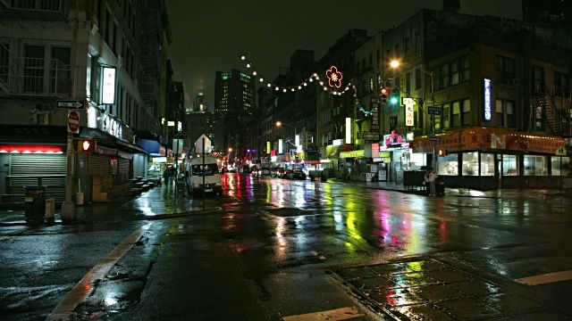 Busy intersection in chinatown at rainy night new york city new busy intersection in chinatown at rainy night new fandeluxe Document
