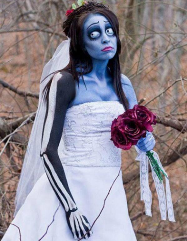 cmo hacer un disfraz de novia cadver para halloween
