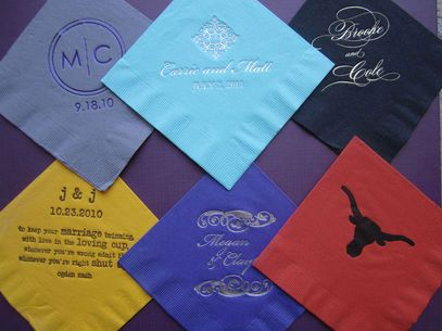 Simply Personal Weddings & Events: Napkins, longhorn, www.simplypersonal.com