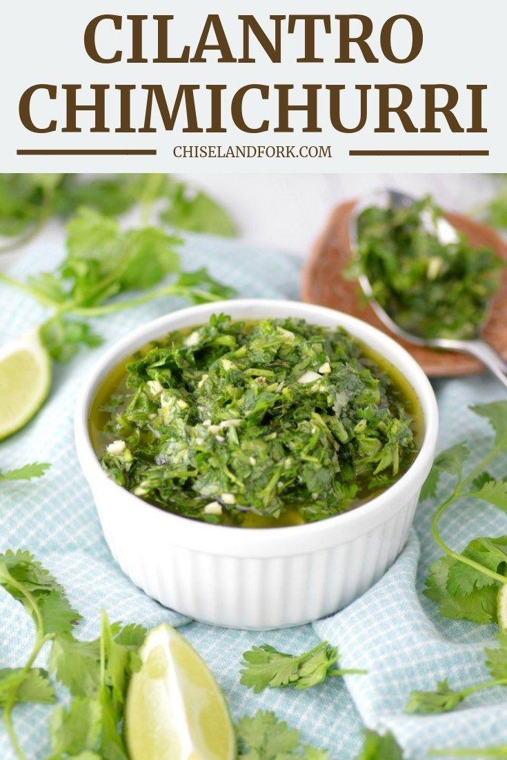 Cilantro Chimichurri Sauce #cilantrosauce