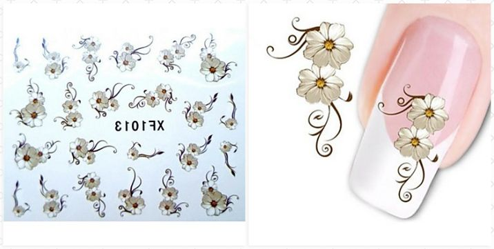 Make Up 1 Aufkleber Blume Kosmetische Design Nagelpflege
