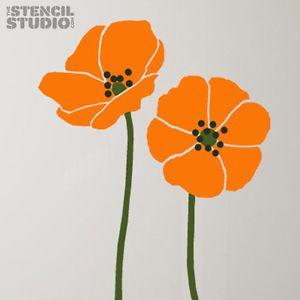 Poppy Stencil 2