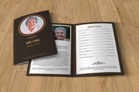 Funeral program template Obituary program by TemplateStock Paper - 35 printable obituary