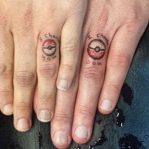 Pokemon the pair of you 33 Impossibly Sweet Wedding Ring Tattoo